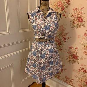 Adorable ModCloth Floral Cotton Mini Dress